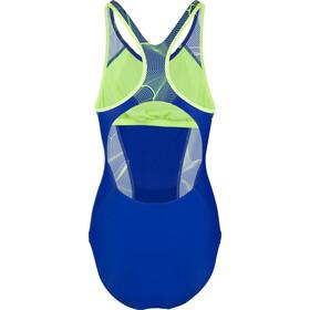 speedo Fit Laneback Swimsuit Dam blue/green